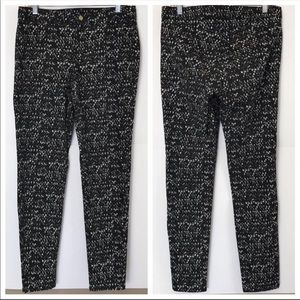 H&M Speckled Black And White Cotton Skinny Pants